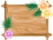 Frame de madeira ilustração do vetor