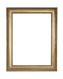 Frame de madeira chapeado ouro com trajeto de grampeamento Imagem de Stock Royalty Free