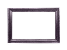 Frame de madeira clássico isolado no branco Fotos de Stock Royalty Free