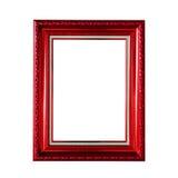Frame de madeira clássico isolado no branco Fotografia de Stock