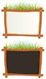 Frame de madeira com sinal ilustração royalty free