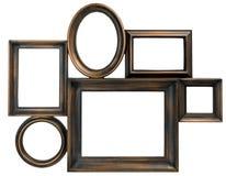 Frame de madeira da foto de Brown fotografia de stock royalty free