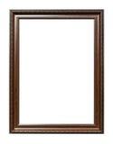 Frame de madeira da imagem da foto do marrom antigo do estilo fotos de stock
