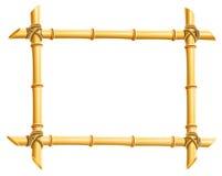 Frame de madeira das varas de bambu Imagens de Stock