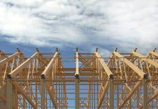 Frame de madeira do telhado Foto de Stock Royalty Free