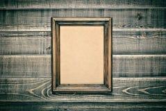 Frame de madeira do vintage Fotos de Stock Royalty Free