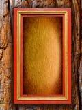 Frame de madeira do vintage com fundo de papel no ol Imagem de Stock