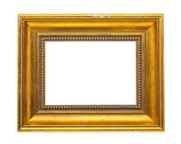 Frame de madeira dourado Fotografia de Stock