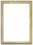 Frame de madeira dourado fotos de stock royalty free