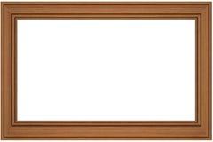 Frame de madeira em branco isolado no branco Imagem de Stock