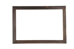 Frame de madeira isolado no branco Foto de Stock Royalty Free