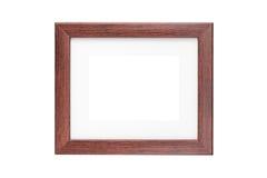Frame de madeira isolado no branco Fotos de Stock Royalty Free