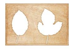 Frame de madeira isolado no branco Imagens de Stock