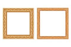 Frame de madeira isolado no branco Foto de Stock