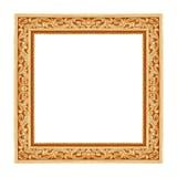 Frame de madeira isolado no branco Fotografia de Stock