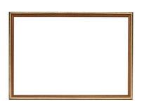 Frame de madeira isolado no fundo branco Fotos de Stock Royalty Free