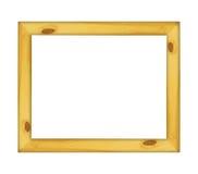 Frame de madeira isolado no fundo branco Fotografia de Stock Royalty Free