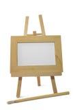 Frame de madeira na armação com trajeto de grampeamento Fotos de Stock