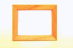 Frame de madeira no branco Fotos de Stock