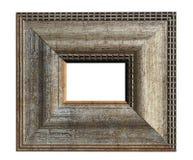 Frame de madeira no fundo branco Imagens de Stock