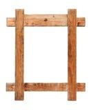 Frame de madeira no fundo branco imagem de stock