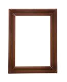 Frame de madeira no fundo branco Imagens de Stock Royalty Free