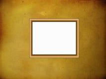 Frame de madeira no fundo do pergaminho Ilustração Royalty Free