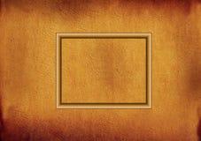 Frame de madeira no pergaminho Ilustração Stock
