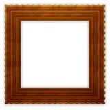 Frame de madeira ondulado quadrado Imagens de Stock Royalty Free