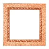 Frame de madeira quadrado Fotos de Stock Royalty Free