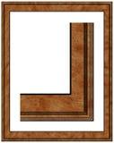 Frame de madeira vazio da foto Foto de Stock Royalty Free