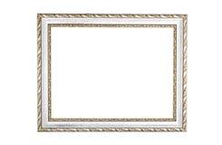 Frame de madeira velho do vintage Isolado no fundo branco Fotografia de Stock
