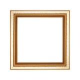 Frame de madeira velho isolado no fundo branco Fotografia de Stock