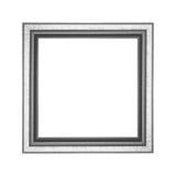 Frame de madeira velho isolado no fundo branco Fotos de Stock Royalty Free