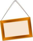 Frame de madeira, vetor Imagens de Stock