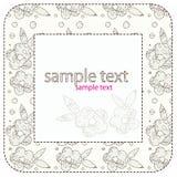 Frame de matéria têxtil com flores Imagens de Stock Royalty Free