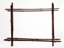 Frame de pólos de bambu w/copyspace Fotos de Stock