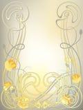 _frame de pavot illustration stock