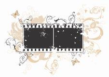 Frame de película sujo ilustração stock