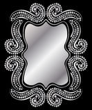 Frame de prata do vintage Imagens de Stock Royalty Free