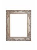 Frame de prata isolado Imagem de Stock