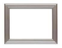 Frame de prata isolado no branco Fotos de Stock Royalty Free
