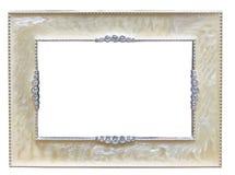 Frame de prata retro da velho-forma clássica Imagem de Stock