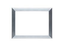 Frame de prata vazio com trajeto de grampeamento Foto de Stock