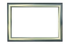 frame de retrato 3D feito do metal Fotos de Stock