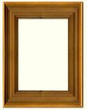Frame de retrato da madeira de pinho Foto de Stock Royalty Free