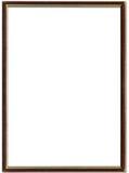 Frame de retrato de Brown e de ouro Foto de Stock Royalty Free