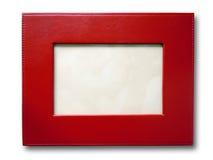 Frame de retrato de couro vermelho Foto de Stock Royalty Free