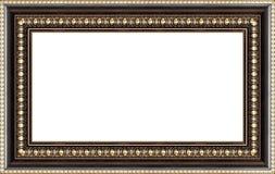 Frame de retrato de madeira antigo imagens de stock