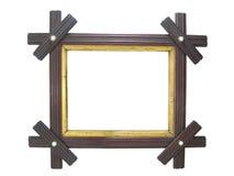 Frame de retrato de madeira antigo imagem de stock royalty free